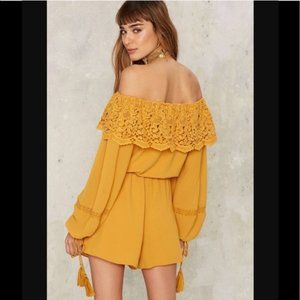 Nasty Gal Collection Daybreak Off Shoulder Romper